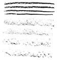 grunge chalk strokes freehand black brushes vector image vector image
