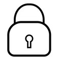 guard lock locked object padlock privacy icon vector image