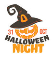 halloween night 31 october celebration of vector image vector image