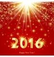 Happy New Year card 2016 Text design on the red vector image vector image