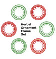 herbal ornament frame set vector image