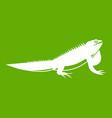 iguana icon green vector image