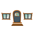 Isolated windows and a door vector image