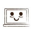 kawaii laptop computer icon vector image vector image