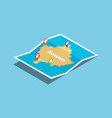 kosovo explore maps with isometric style and pin vector image vector image