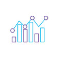 line statistics bar diagram data graph data vector image vector image