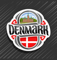 logo for denmark vector image