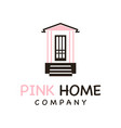 logo house terrace vector image
