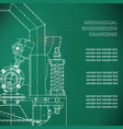 mechanical engineering the drawing technical the vector image vector image