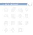 media web icons for business finance and vector image vector image