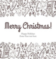 merry christmas and new year seamless background vector image