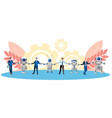 metaphor friendship cooperation people and vector image vector image