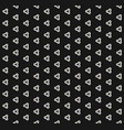 minimalist black and white seamless pattern vector image