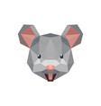 mouse rat cute face with polygonal geometric style vector image