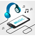 music player headphones seamless vector image vector image