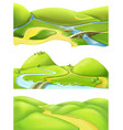 Nature landscape cartoon game backgrounds set