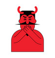 omg red devil oh my god satan frightened demon vector image vector image