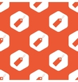 Orange hexagon string tag pattern vector image vector image