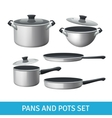 Pans And Pots Set vector image vector image