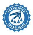 paragliding sport vector image vector image