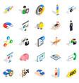 person icons set isometric style vector image vector image