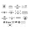 Photography logo templates set Use for photo vector image vector image
