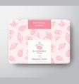 raspberry bath soap cardboard box abstract vector image
