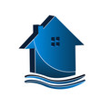 real estate house isolated icon vector image vector image
