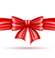 red bow and ribbon realistic vector image vector image