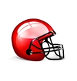 Red football helmet vector image vector image