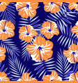 rtopical pattern on blue vector image vector image