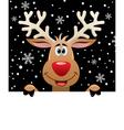 rudolph deer vector image vector image