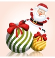 santa on big ball christmas happy graphic vector image vector image