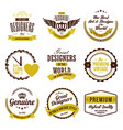 set badges and labels vector image vector image