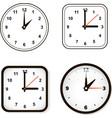 set wall clock watch and circle vector image vector image