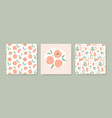 simple peach seamless pattern hand drawn design vector image vector image