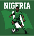 soccer player of nigeria vector image vector image