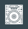 solid color dj cd player device vector image vector image