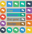 Speech bubble icons Think cloud symbols Set of vector image vector image