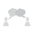 speech bubbles people vector image vector image