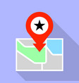 star park map pin icon flat style vector image