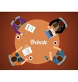 team debate together view from top graphic vector image