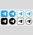 telegram messenger icon vector image