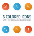 tools icons set collection of screwdriver with vector image vector image