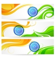 Tricolor India banner vector image vector image