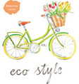watercolor bike vector image