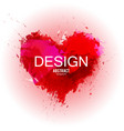 watercolor stain made in shape of heart valentine vector image