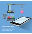 App development technology design vector image