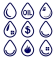 drop - icon set symbol vector image