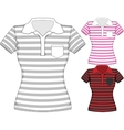 womens short sleeve t-shirt design vector image